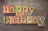 Birthday Blocks, Postcards (Galatians 6:18) Pack of 25