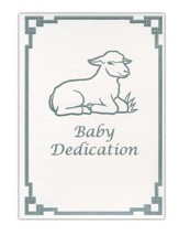 Baby Dedication Folded Certificates (Matthew 19:14, NKJV) 6