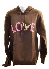 Love Dove, Hooded Sweatshirt, Medium (38-40)