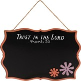 Trust in the Lord, Proverbs 3:5, Chalkboard