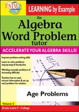 Algebra Word Problem: Age Problems DVD