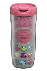Owl, Wisdom Is Sweet Travel Mug