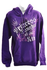 Princess, Daughter of the King, Hooded Sweatshort, Small (36-38)