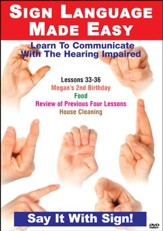 Sign Language Series Lessons 33-36: Birthdays, Food Cleaning DVD