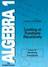 Algebra 1 - The Complete Course: Looking at Functions Recursively DVD