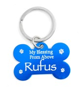 Personalized, Dog Tag, My Blessing From Above, Blue