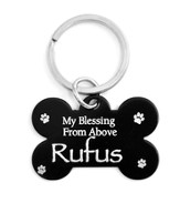 Personalized, Dog Tag, My Blessing From Above, Black