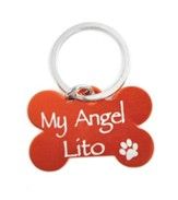 Personalized, Dog Tag, My Angel, Red