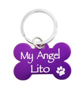 Personalized, Dog Tag, My Angel, Purple Keyring