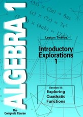 Algebra 1 - The Complete Course: Introductory Explorations 1 DVD