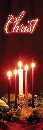 Advent Candles - Christ Banner (2' x 6')