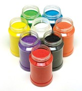 Rainbow Craft Sand, pack of 8