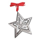 Rejoice Silver Star Ornament