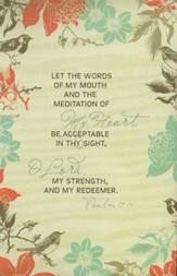 Let The Words of My Mouth (Psalm 19:14) Bulletins, 100