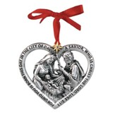God's Love, Holy Family in Heart Ornament