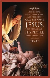 And They Shall Call His Name Jesus (Matthew 1:21) Christmas Bulletins, 100
