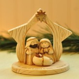 A Child Is Born Whimsical Nativity