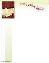 Noel, Noel, Born Is The King Of Israel, Letterhead, 100