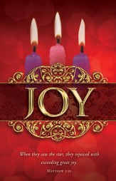 Joy (Matthew 2:10) Advent Bulletins, 100