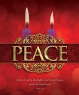 Peace (Luke 2:14) Large Advent Bulletins, 100