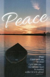 Boat & Sunset Peace I Leave with You (John 14:27) Bulletins, 100