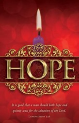 Hope (Lamentations 3:26) Advent Bulletins, 100