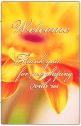 Welcome. Thank You for Worshiping with Us    Welcome Pew Cards, Package of 25