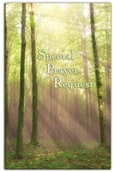 Special Prayer Request (Forest) Pew Cards Package of 25