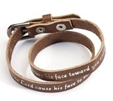 Brown Leather Bracelet: Aaron's Blessing