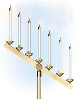 7-Light Candelabra Heads For Fixed Inclined Arm (set of 2)
