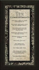 Ten Commandments Framed Print