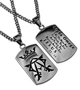 Alpha Omega Dog Tag