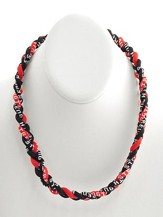 His Armor Titanium Sports Necklace, Black & Red