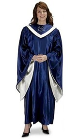 Choir Robe, Blue / Ivory (Large Short)