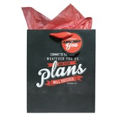 Commit To the Lord Whatever You Do And Your Plans Will Succeed Gift Bag, Medium