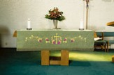 Embroidered Cross / Grape / Vine Altar Frontal