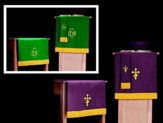 3-piece Parament Set Purple / Green
