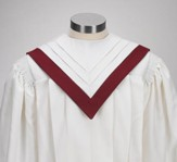 V-Neck Choir Robe, Ivory (Medium Short)