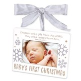 Baby's First Christmas, Photo Frame Ornament, White