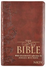 NKJV Bible with GRASSROOTS Reflections, LuxLeather