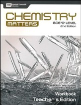 Chemistry Matters Workbook Teacher's Edition Grades 9-10 2nd Edition