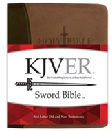 KJVer (Easy Reader) Giant Print Sword Study Bible, Ultrasoft Dark Brown/Light Brown