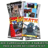 ACE Core Curriculum (4 Subjects), Single Student Complete PACE & Score Key Kit,)