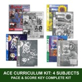 ACE Core Curriculum (4 Subjects), Single Student Complete PACE & Score Key Kit, Grade 8, 3rd Edition (with 4th Edition Math)