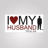 I Love My Husband Bumper Sticker, Small