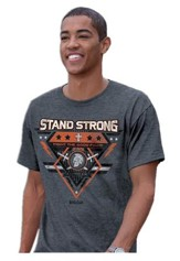 Stand Strong, Fight the Good Fight Of Faith Shirt, Charcoal   Large
