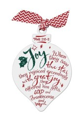 Joy--Glittered Ornament