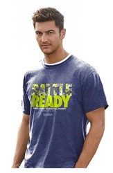 Battle Ready, Armed and Ready For Spiritual Warefars Shirt, Blue, Large