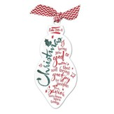 Good News, Great Joy--Glittered Ornament