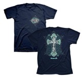 Amazing Grace Cross Shirt, Navy, 4x-Large